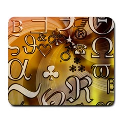 Symbols On Gradient Background Embossed Large Mousepads