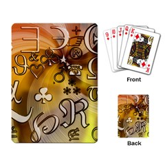 Symbols On Gradient Background Embossed Playing Card