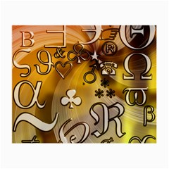 Symbols On Gradient Background Embossed Small Glasses Cloth (2 Side)