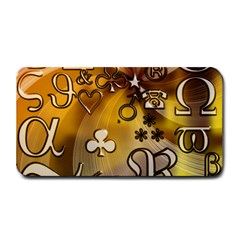 Symbols On Gradient Background Embossed Medium Bar Mats