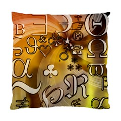 Symbols On Gradient Background Embossed Standard Cushion Case (two Sides)
