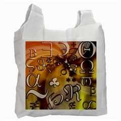 Symbols On Gradient Background Embossed Recycle Bag (one Side)