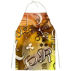 Symbols On Gradient Background Embossed Full Print Aprons