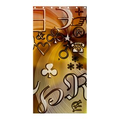 Symbols On Gradient Background Embossed Shower Curtain 36  X 72  (stall)
