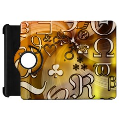 Symbols On Gradient Background Embossed Kindle Fire Hd 7