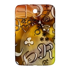 Symbols On Gradient Background Embossed Samsung Galaxy Note 8 0 N5100 Hardshell Case