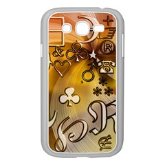 Symbols On Gradient Background Embossed Samsung Galaxy Grand Duos I9082 Case (white)