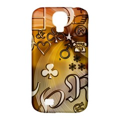 Symbols On Gradient Background Embossed Samsung Galaxy S4 Classic Hardshell Case (pc+silicone)