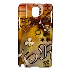 Symbols On Gradient Background Embossed Samsung Galaxy Note 3 N9005 Hardshell Case