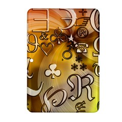 Symbols On Gradient Background Embossed Samsung Galaxy Tab 2 (10 1 ) P5100 Hardshell Case