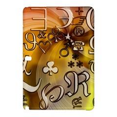 Symbols On Gradient Background Embossed Samsung Galaxy Tab Pro 10 1 Hardshell Case