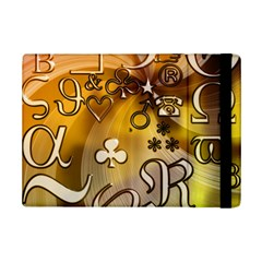 Symbols On Gradient Background Embossed Ipad Mini 2 Flip Cases
