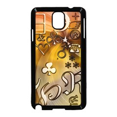 Symbols On Gradient Background Embossed Samsung Galaxy Note 3 Neo Hardshell Case (black)