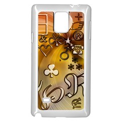 Symbols On Gradient Background Embossed Samsung Galaxy Note 4 Case (white)