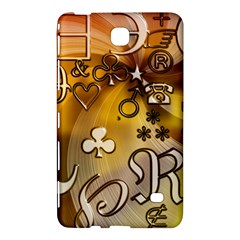 Symbols On Gradient Background Embossed Samsung Galaxy Tab 4 (8 ) Hardshell Case