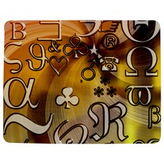 Symbols On Gradient Background Embossed Jigsaw Puzzle Photo Stand (rectangular)
