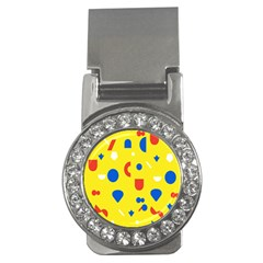 Circle Triangle Red Blue Yellow White Sign Money Clips (CZ)