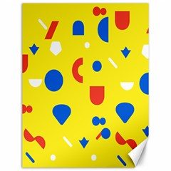 Circle Triangle Red Blue Yellow White Sign Canvas 12  x 16