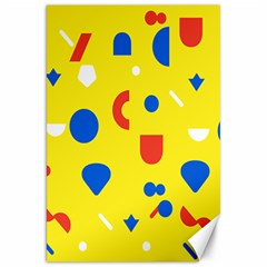 Circle Triangle Red Blue Yellow White Sign Canvas 20  X 30