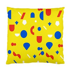 Circle Triangle Red Blue Yellow White Sign Standard Cushion Case (One Side)