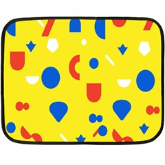 Circle Triangle Red Blue Yellow White Sign Double Sided Fleece Blanket (Mini)