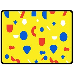 Circle Triangle Red Blue Yellow White Sign Fleece Blanket (Large)