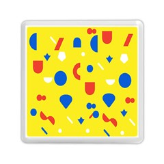 Circle Triangle Red Blue Yellow White Sign Memory Card Reader (Square)