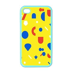 Circle Triangle Red Blue Yellow White Sign Apple Iphone 4 Case (color)
