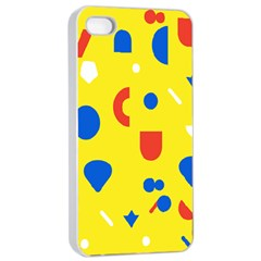 Circle Triangle Red Blue Yellow White Sign Apple iPhone 4/4s Seamless Case (White)