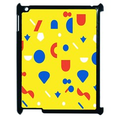 Circle Triangle Red Blue Yellow White Sign Apple iPad 2 Case (Black)