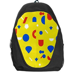 Circle Triangle Red Blue Yellow White Sign Backpack Bag