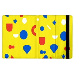 Circle Triangle Red Blue Yellow White Sign Apple Ipad 2 Flip Case