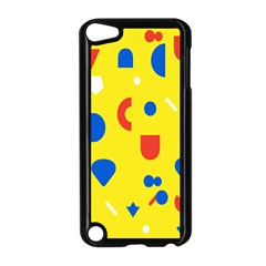 Circle Triangle Red Blue Yellow White Sign Apple iPod Touch 5 Case (Black)