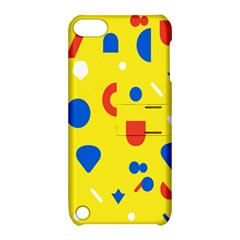 Circle Triangle Red Blue Yellow White Sign Apple iPod Touch 5 Hardshell Case with Stand