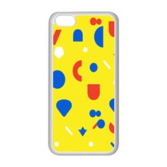 Circle Triangle Red Blue Yellow White Sign Apple iPhone 5C Seamless Case (White)