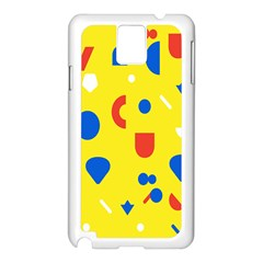 Circle Triangle Red Blue Yellow White Sign Samsung Galaxy Note 3 N9005 Case (White)