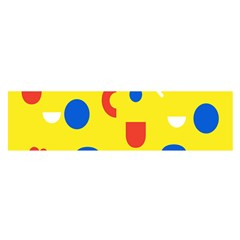 Circle Triangle Red Blue Yellow White Sign Satin Scarf (Oblong)