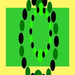 Circular Dot Selections Green Yellow Black Magic Photo Cubes