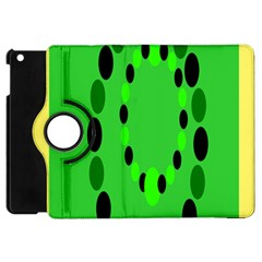 Circular Dot Selections Green Yellow Black Apple iPad Mini Flip 360 Case