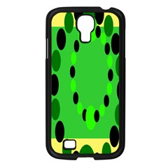 Circular Dot Selections Green Yellow Black Samsung Galaxy S4 I9500/ I9505 Case (black)