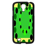 Circular Dot Selections Green Yellow Black Samsung Galaxy S4 I9500/ I9505 Case (Black) Front