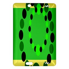 Circular Dot Selections Green Yellow Black Amazon Kindle Fire HD (2013) Hardshell Case