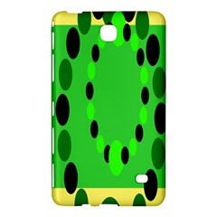Circular Dot Selections Green Yellow Black Samsung Galaxy Tab 4 (7 ) Hardshell Case
