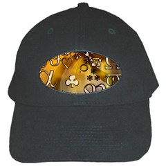 Symbols On Gradient Background Embossed Black Cap