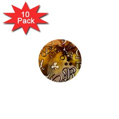 Symbols On Gradient Background Embossed 1  Mini Buttons (10 Pack)