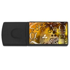 Symbols On Gradient Background Embossed Usb Flash Drive Rectangular (4 Gb)