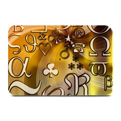 Symbols On Gradient Background Embossed Plate Mats