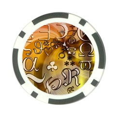 Symbols On Gradient Background Embossed Poker Chip Card Guard