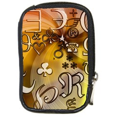 Symbols On Gradient Background Embossed Compact Camera Cases