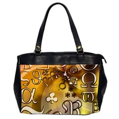 Symbols On Gradient Background Embossed Office Handbags (2 Sides)